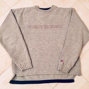 Kid's Tommy Hilfiger reverse weave sweater